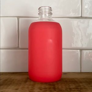 bkr teeny madly red glass water bottle